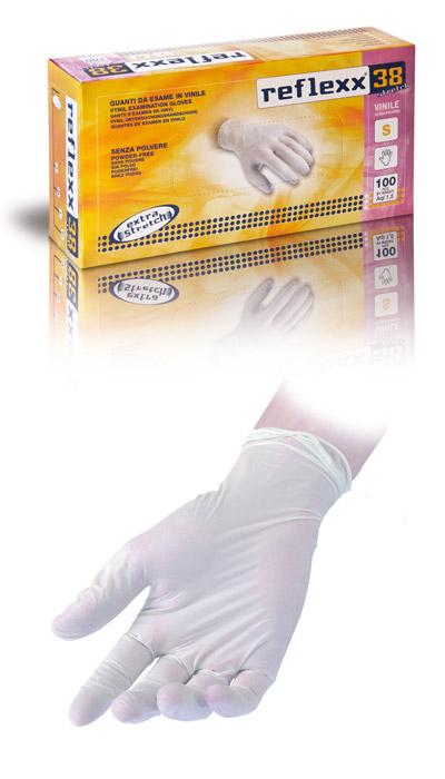 Gevenit - Guanti vinile stretch senza polvere Reflexx 38 12c61b82e2ae