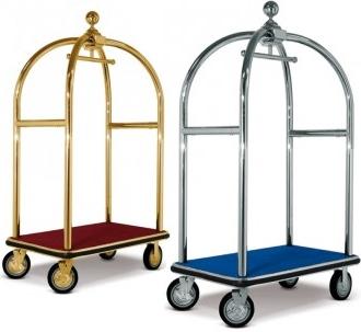 Carrello portavaligie verticale per hotel