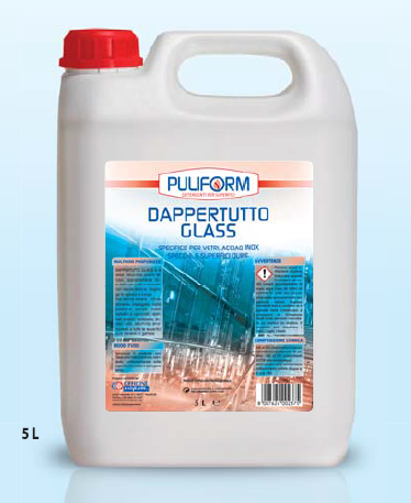 DAPPERTUTTO GLASS Specifico per Vetri, Acciaio Inox, Specchi e Superfici dure lt.5