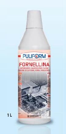 FORNELLINA Detergente Caustico per Cucine Piastre di cottura, Forni, Friggitrici lt.1