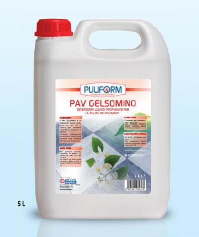 PAV GELSOMINO Detergente Liquido Profumato per la Pulizia dei Pavimenti lt.5