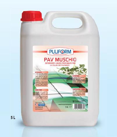 PAV MUSCHIO Detergente Liquido Profumato per la Pulizia dei Pavimenti lt.5