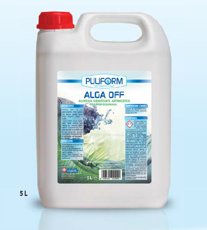ALGA OFF Igienizzante Alchicida, Antimicotico, Antibatterico Uso professionale lt.5