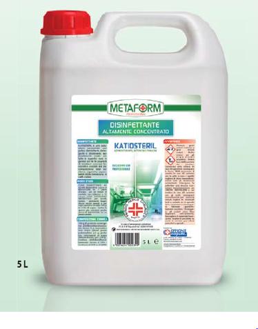 KATIOSTERIL PMC Disinfettante Altamente Concentrato lt.5