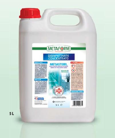 METASTERIL INODORE PMC Disinfettante Concentrato lt.5