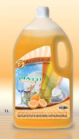 PIATTI ARANCIA Detergente Concentrato a Mano per Stoviglie lt.1