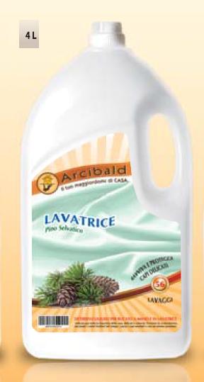 LAVATRICE PINO SELVATICO Detersivo Liquido per il Bucato a Mano e in Lavatrice lt.4