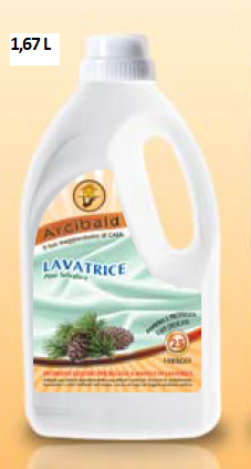LAVATRICE PINO SELVATICO 25 LAVAGGI Detersivo Liquido per il Bucato a Mano e in Lavatrice lt.1,67
