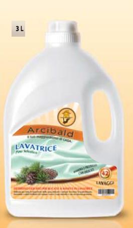 LAVATRICE PINO SELVATICO 42 LAVAGGI Detersivo Liquido per il Bucato a Mano e in Lavatrice lt.3