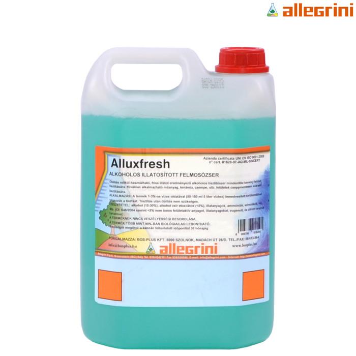 ALLUX FRESH Detergente alcolico particolarmente profumato per la pulizia ordinaria di tutte le superfici dure lavabili senza lasciare aloni 5lt