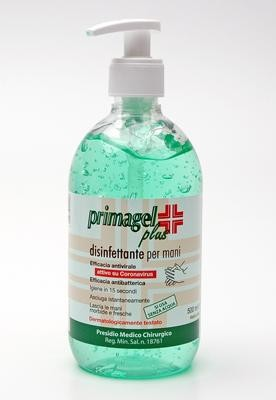 PRIMAGEL PLUS Gel trasparente disinfettante per l'immediata ed efficace igiene delle mani 500ml