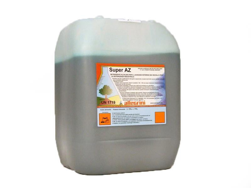 SUPER AZ Detergente alcalino per il lavaggio esterno dei veicoli con sistemi a nebulizzazione o idropulitrici 1lt