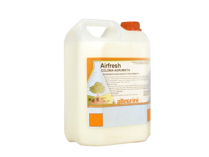 AIRFRESH COLONIA AGRUMATA Deodorante sanitizzante liquido per ambienti a base acquosa 5kg