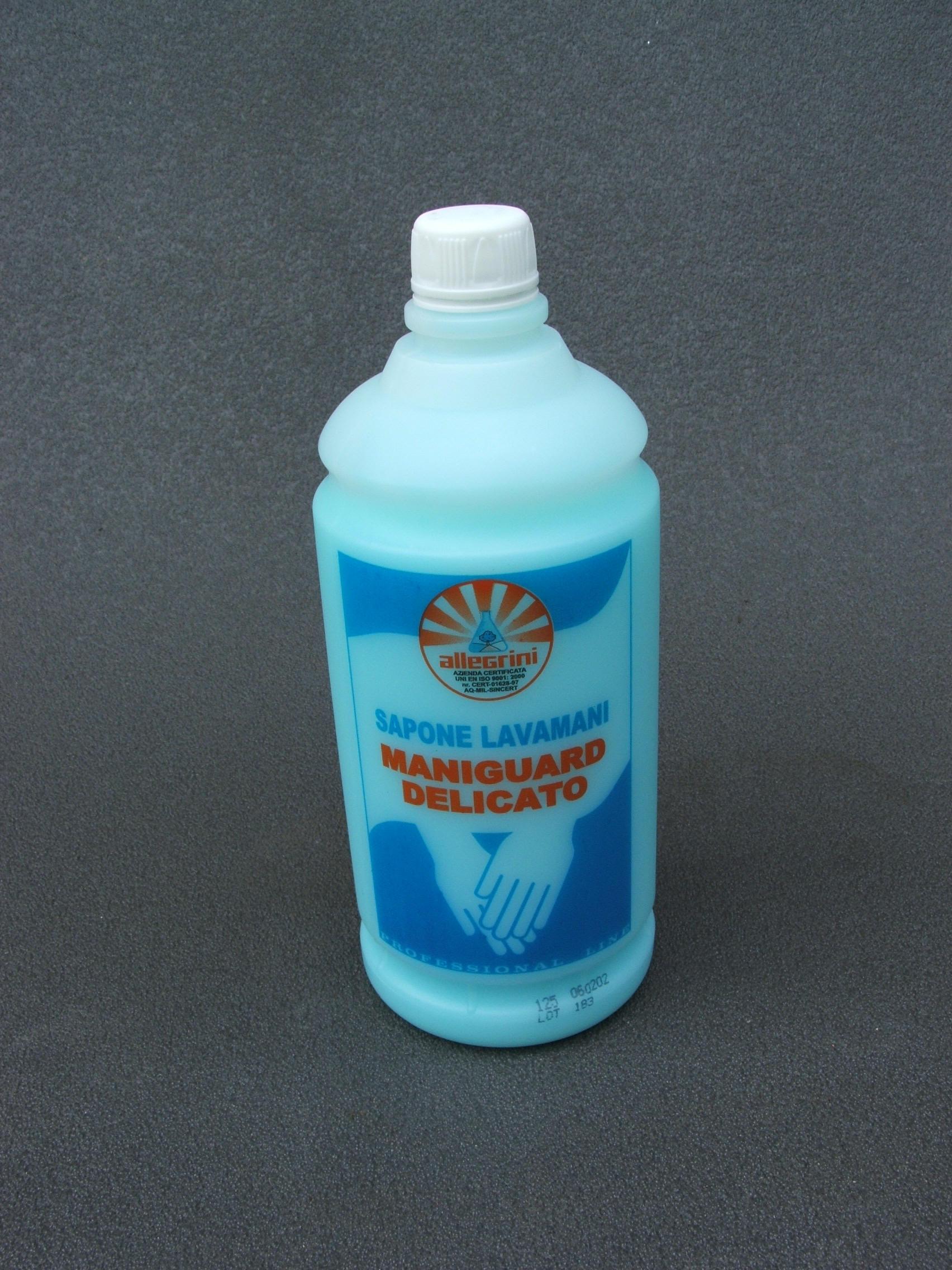MANIGUARD DELICATO Detergente Liquido per le Mani a pH eudermico, formulato con Tensioattivi Pregiati, molto Delicati per la Pelle 1lt