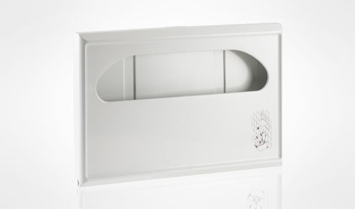 Dispenser veline copriwater in carta. Misura maxi in abs bianco contenente fino a 250 veline
